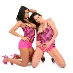 Duo erotic dancing wallpaper | Angelica Kitten and Leonelle Knoxville