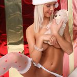 Merry Christmas lingerie open crotch erotic wallpaper | Natali Blond